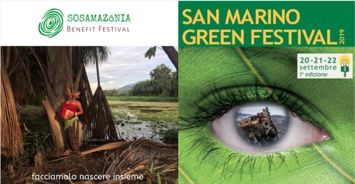 Gratitudine per il Gemellaggio tra: SOS AMAZôNIA Benefit Festival e  San Marino Green Festival