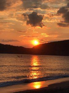 tramonto volo della rondine